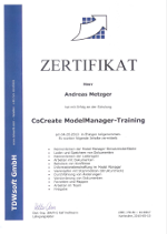 Co-Create ModelManager-Training Zertifikat